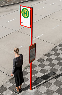 Bus stop - p383m1462890 by visual2020vision