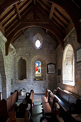 interior of a small church; northumberland, england - p44212447f by John Short