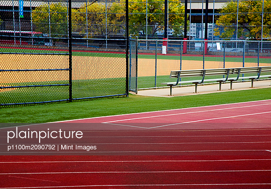 Track and Baseball Diamond - p1100m2090792 by Mint Images