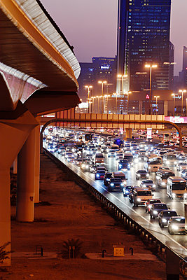 Dubai Internet City rush hour motorway traffic E11 - p1048m1512720 by Mark Wagner