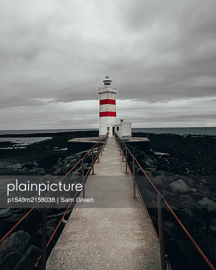 Iceland, Lighthouse of Garour - p1549m2158038 by Sam Green