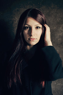 Portrait of serious young woman - p577m954672 by Mihaela Ninic