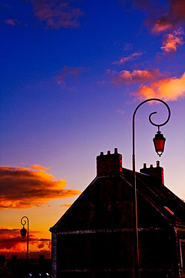 Old lantern in a french village - p8620044 by Michel Gile