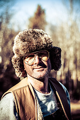 Hipster in the The Woods - p1086m1539657 by Carrie Marie Burr