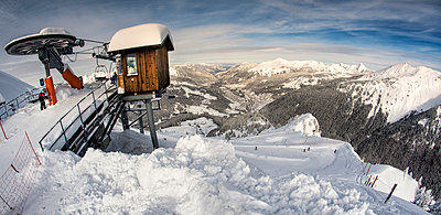 Panoramic view over the mountains - p1072m993871f by Grigore Roibu