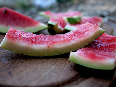 Leftovers of water melon slices - p388m877281 by Andre
