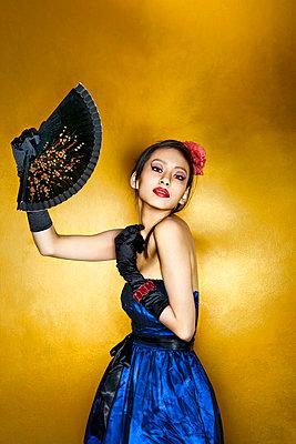 Asian flamenco - p6800163 by Stella Mai