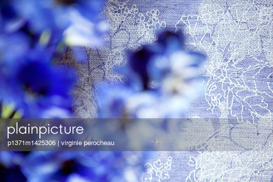 Blue Flowers - p1371m1425306 by virginie perocheau
