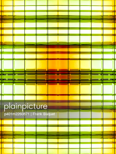 Abstract light kaleidoscope - p401m2260871 by Frank Baquet
