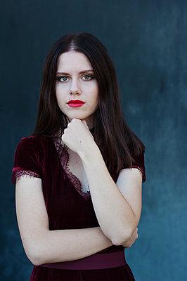 Girl with pale skin - p1412m2133500 by Svetlana Shemeleva