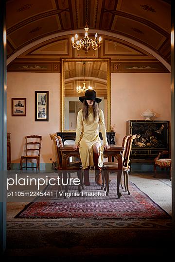 Woman in the castle - p1105m2245441 by Virginie Plauchut