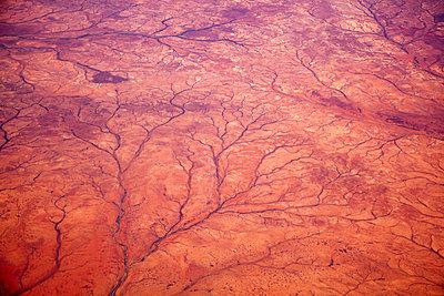 Aerial view of desert landscape - p30120608f by Tobias Titz