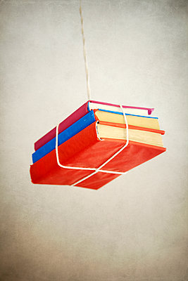 Bundle of Books Hanging by String - p1248m2076349 by miguel sobreira