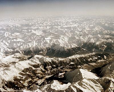 Luftaufnahme von den Alpen - p1409m1464930 von margaret dearing