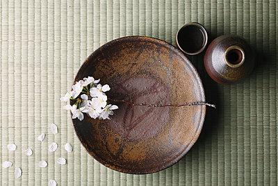 Japanese traditional pottery - p307m1106035f by Hideki Yoshihara