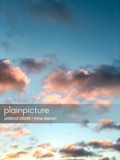 Pink clouds in the evening - p382m2100258 by Anna Matzen
