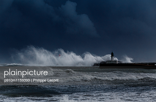 Stormy sea - p910m1159393 by Philippe Lesprit