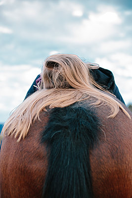Girl on a horse - p1621m2228866 by Anke Doerschlen