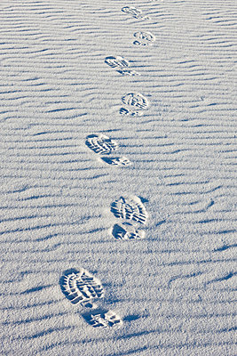 Footprints on sand - p5756537 by Halling, Sven