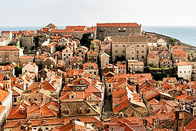 Dubrovnik cityscape, Croatia - p312m1470770 by Susanne Kronholm