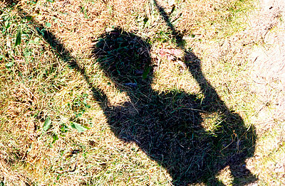 Shadow of a young boy having a swing - p7780048 by Denis Dalmasso
