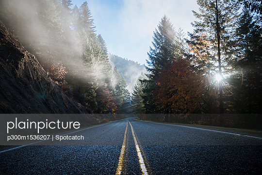 USA, Oregon, Klamath County, road in Crater Lake National Park - p300m1536207 by Spotcatch