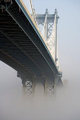 Brooklyn Bridge in the fog - p265m1131541 by Oote Boe