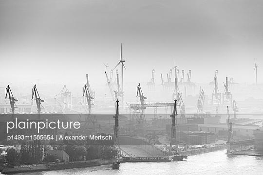 Containerhafen Hamburg - p1493m1585654 von Alexander Mertsch