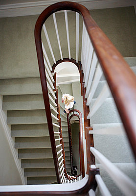 Interior staircase of Georgian townhouse  - p349m789885 by Brent Darby
