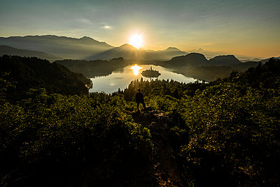 Early morning sunrise at Lake Bled - p1455m2043698 by Ingmar Wein