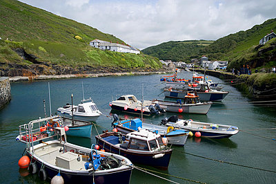 Boscastle in cornwall - p9244172f by Image Source
