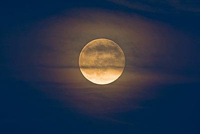 Germany, rise of full moon - p300m1069105f by Ulrich Hagemann