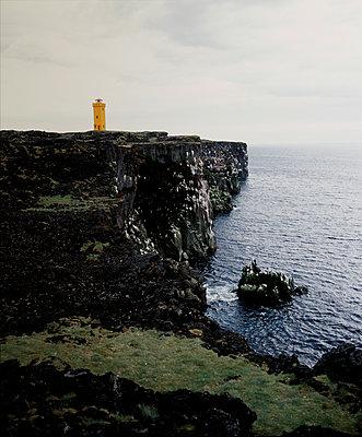 Svörtuloft lighthouse, Snaefellsnes peninsula, Iceland - p1028m2043544 by Jean Marmeisse