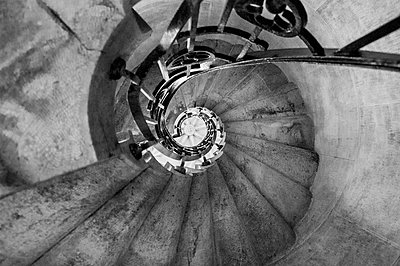 Spiral staircase on the Quinta da Regaleira estate. - p1072m1056574 by Robin Vandenabeele