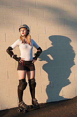 Roller Derby Girl - p920m917713 by Jude Mooney