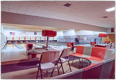 Bowling alley - p1154m1217564 by Tom Hogan