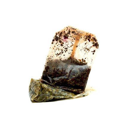 Two used tea bags - p813m904303 by B.Jaubert