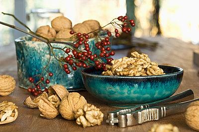 Cracked walnuts - p300m2059853 by Achim Sass