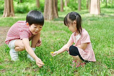 Japanese kids in a city park - p307m2058026 by Hideki Yoshihara