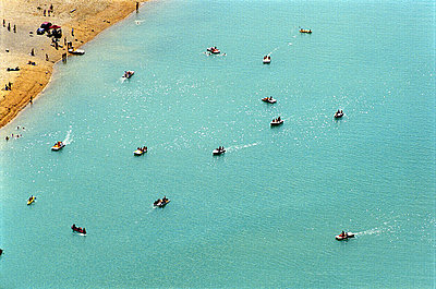 Stausee Lac du Sainte-Croix, Moustiers Sainte-Marie, Frankreich, 2002 - p9793255 von Vogt