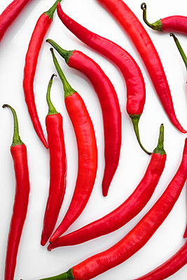 Red chili peppers - p1228m1540181 by Benjamin Harte