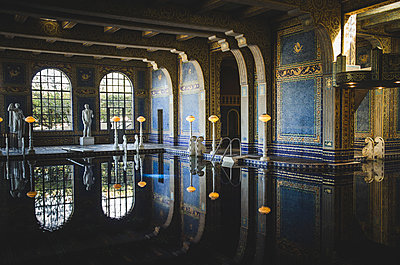 Heart Castle Roman Pool, San Simeon, California, USA - p694m1175521 by Eric Schwortz