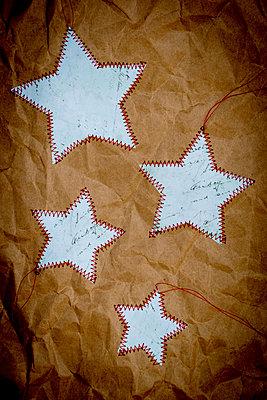 Sewed stars - p451m2272339 by Anja Weber-Decker