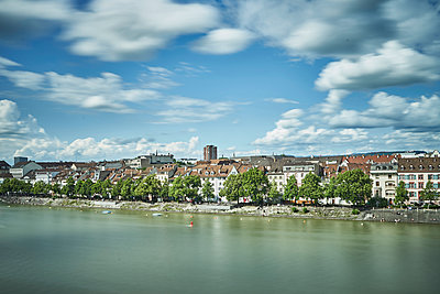 City of Basle on the bank of the Rhine - p1312m2126530 by Axel Killian