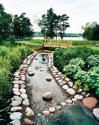 Stream in Japanese garden - p312m764794 by Per Eriksson