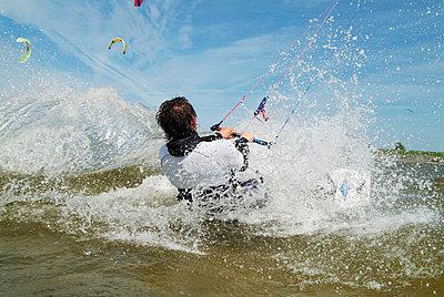 Kite-boarder - p3003697f by Phillip Koschel