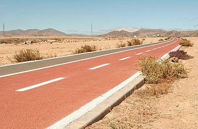 Spain, Fuerteventura, Country road at Corralejo - p300m1129976f von Michelle Fraikin