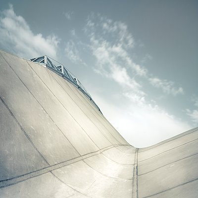 France, Normandy, Deauville, Roof of the Olympic swimming hall - p1137m2257876 by Yann Grancher