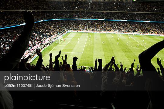 Sweden, Solna, Football match