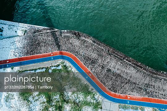 Promenade and park, Karakoy, Istanbul, aerial view - p1332m2287854 by Tamboly
